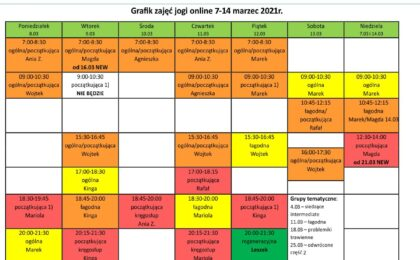 Grafik jogi online 7-14 marzec 2021