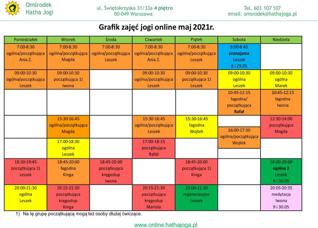 grafik jogi online maj 2021